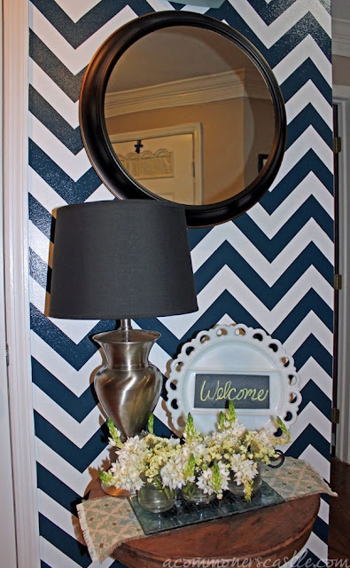 Great tutorial on how to paint chevron stripes on wall: Commoner S Castle, Decorating Ideas, Paint Chevron Stripes, Tutorial, How To Paint, Striped Walls, Chevron Wall, Stripe Reveal, Diy