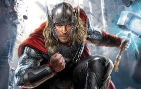 24 – Otra de las divinidades principales era Thor, el dios del trueno, cuyo martillo poderoso  hacía temblar la tierra e inspiraba a los superhéroes.