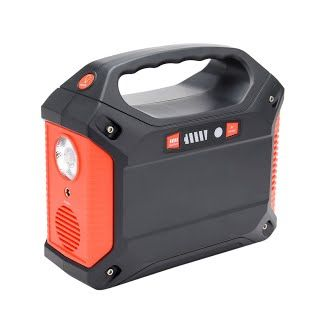 """""""Features & Benefits"""" uxcell 100-Watt Portable Generator Power Inverter, 42000mAh 155Wh Battery Pack UPS Power Supply Charged by 100 Watt Solar Panel/Wall Outlet/Car with Dual 110V AC Outlet, 3 DC 12V Ports, USB Ports"""