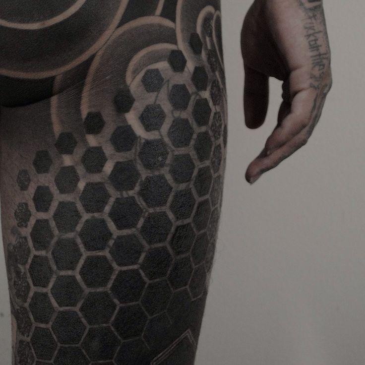 Hexagons   Tattoos   Tattoos, Blackout tattoo, Tattoo project