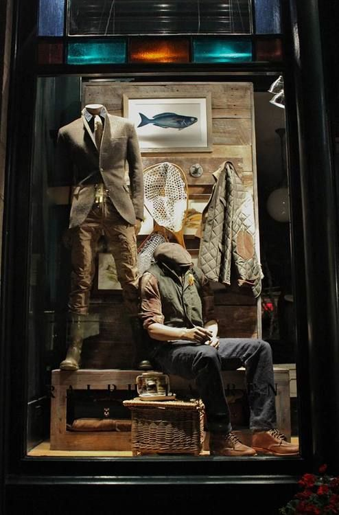 Window shopping the Ralph Lauren Store in Aspen....