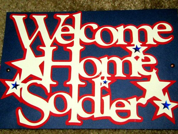 Welcome home soldier military banner for Welcome home troops decorations