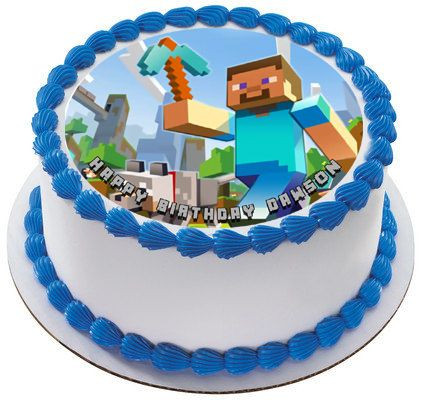 MINECRAFT Characters 1 Edible Birthday Cake Topper ...