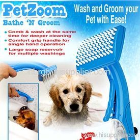 PetZoom Self Cleaning Grooming Brush for Dogs & Cats - Buy Online Pet Food, Treats, Toys, Clothes, Socks, Shoes, Raincoat | Online Pet Shop | Online Pet Store India | petsGOnuts.com