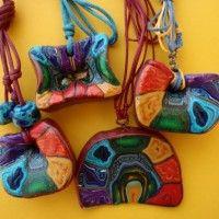 Handmade jewelry with Polymer Clay and Macramé - Cavandoli knots - Χειροποίητα κοσμήματα με πολυμερή πηλό και Macramé – Cavandoli κόμπους