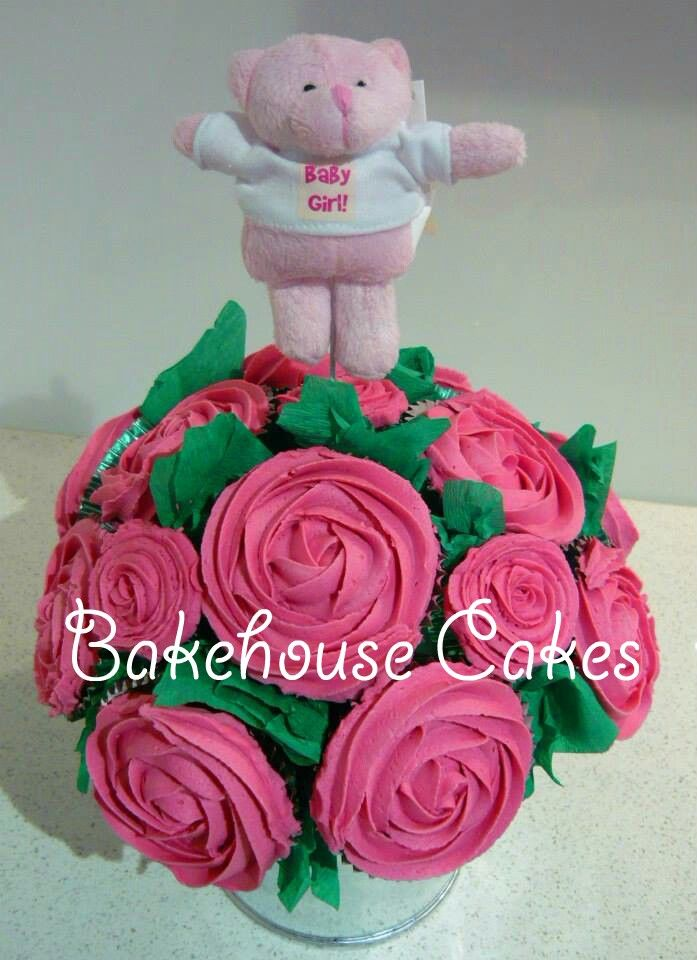 It's a girl cupcake bouquet