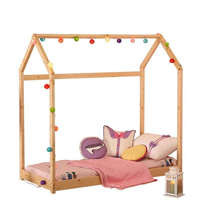 Uhom Bedroom Twin Size Furniture Premium Wood Children Toddler