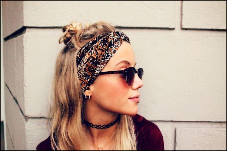 Coole Knoten Frisur mit Stirnband schicke Ideen