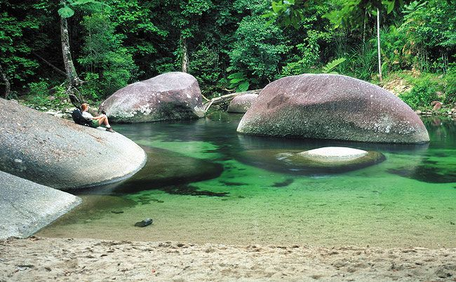 Mossman Gorge near Port Douglas, Queensland, Australia.  Near my home town.  I have swum there many times.