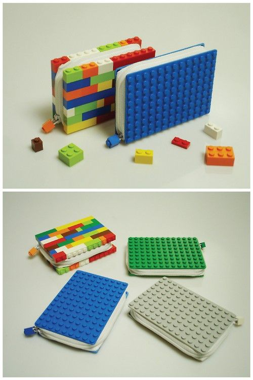 DIY Inspiration: LEGO Wallets by Ryan Chapman here.I really like this idea for journal covers. First seen at Geek Crafts here. Ive posted lots of LEGO DIYs like bags, jewelry, a clock etc here:truebluemeandyou.tumblr.com/tagged/legoDescription of Ryan Chapmans wallets on his website:  Client:Lego- A collection of wallets and purses created with LEGO, the wallets came in 4 different designs with 3 of them customizable. The wallets were available for a limited time in selected boutiques…