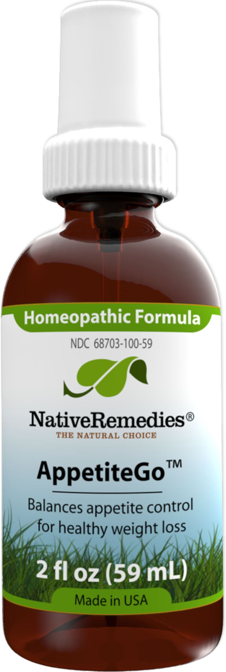 AppetiteGo™ - Homeopathic Natural remedy temporarily relieves feelings of hunger appetite suppressant to help with healthy weight loss