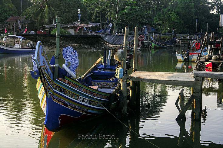 Fishing village Pantai Sabak Kota Bharu Kelantan
