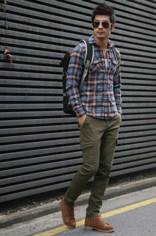 bf-wish-14: Men S Style, Stuff, Men S Fashion, Cargo Pants, Casual, Mensfashion, Plaid Shirts, Man Style