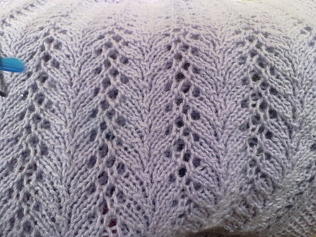 Lilacs and Love - knitted for a dear sister-friend who passed away in January 2011.