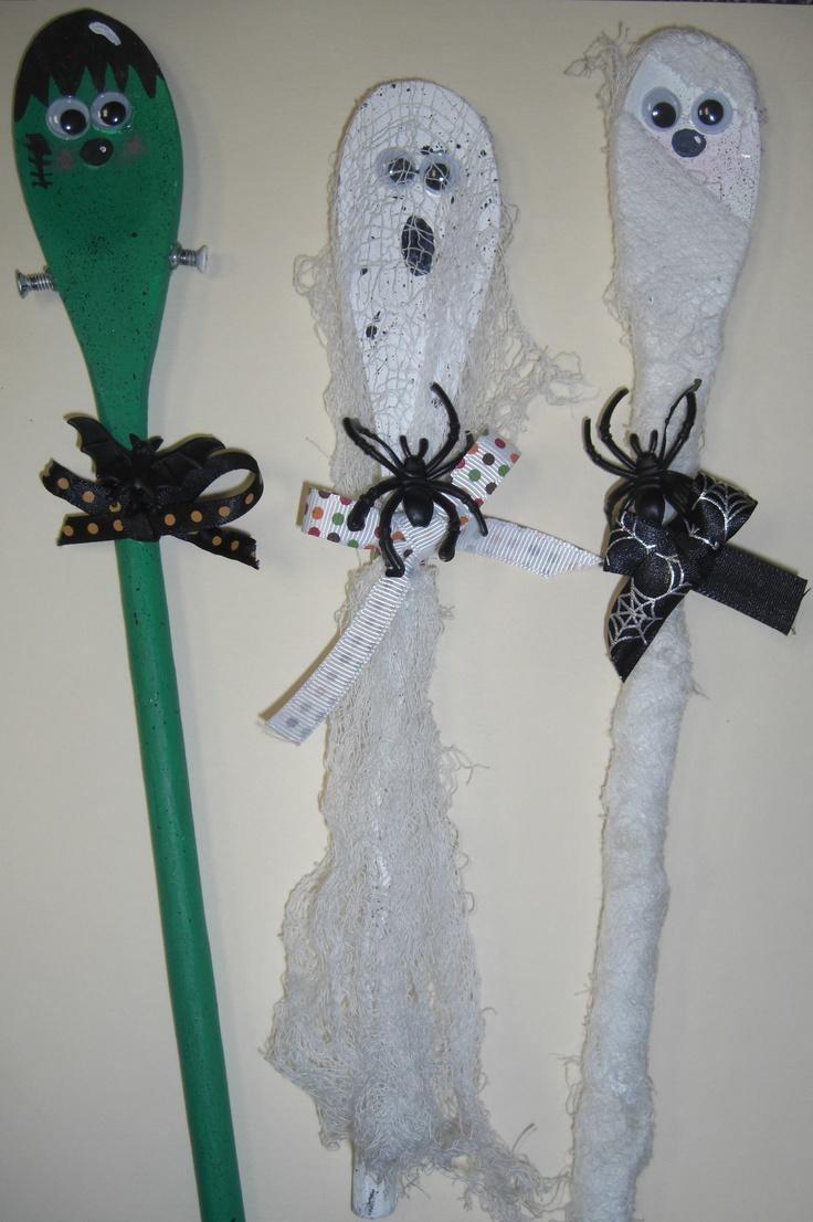 Halloween Wooden Spoons Craft Ideas Pinterest Spoons