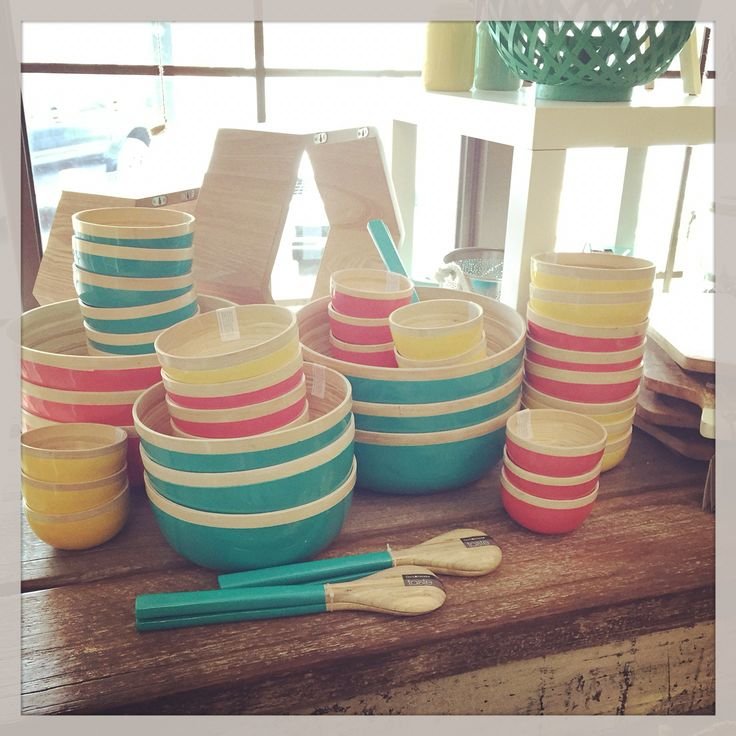 Stunning range of bamboo bowls for summer. These are such amazing bowls