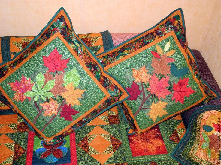 Купить лоскутные подушки ОСЕНЬ... ОСЕНЬ... ОСЕНЬ... - лоскутные подушки, лоскутная подушка, лоскутные подушка