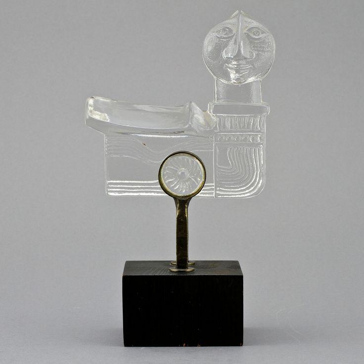 ** Bertil Vallien (Swedish, 1938), Kosta Boda, Sand Cast Glass Sculpture.