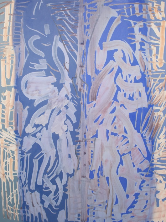 Jonathan Apgar | Shallow Gate, Blue and Pale, 2013, oil on canvas, 96 x 72 inches.