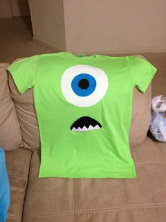 Nic Knacks: DIY Monster's Inc. Mike Wizowski Shirt