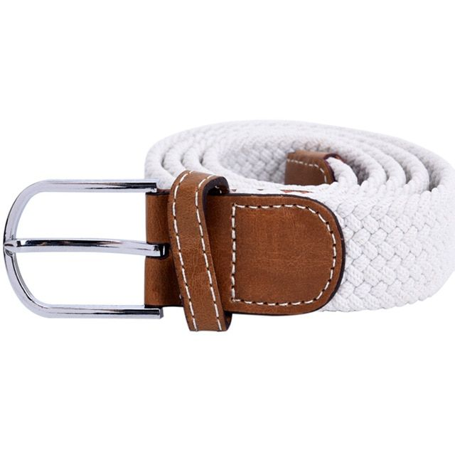 Men's stretch braided elastic woven canvas buckle belt waistband waist strap…   – Products