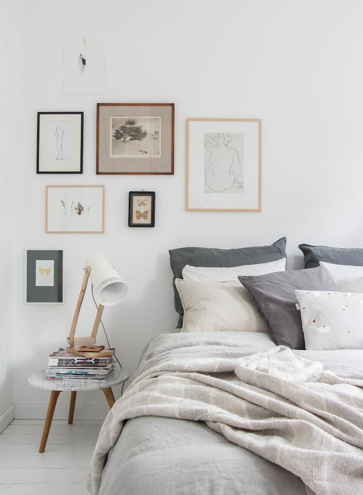 A calm colour palette perfect for a relaxing bedroom vibe