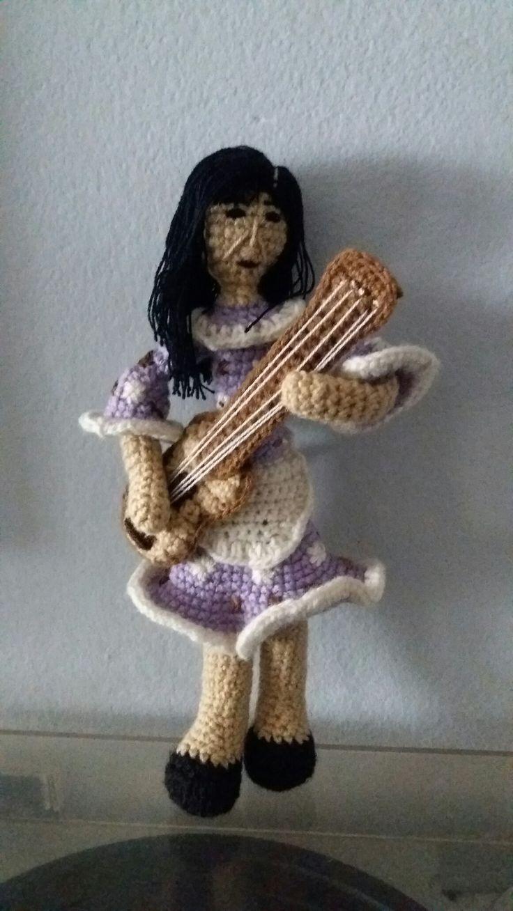 Violeta Parra amigurumi, técnica crochet/ganchillo #VioletaParra #amigurumi #crochet #tejido #ganchillo