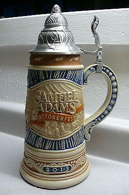 Samuel Adams Limited Edition 2013 Octoberfest Beer Lidded Stein #3170