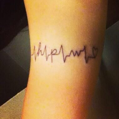 This Heartbeat Has The First Initials Of Each My Brothers Names Tattoo