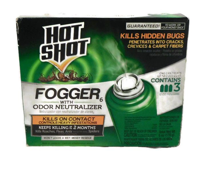Hot Shot Fogger Odor Neutralizer 2 Oz Cans 3 Count New In Package  #Fogger