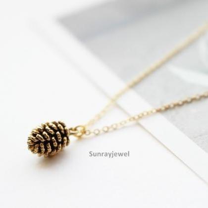 pine cone necklace, Simple necklace..