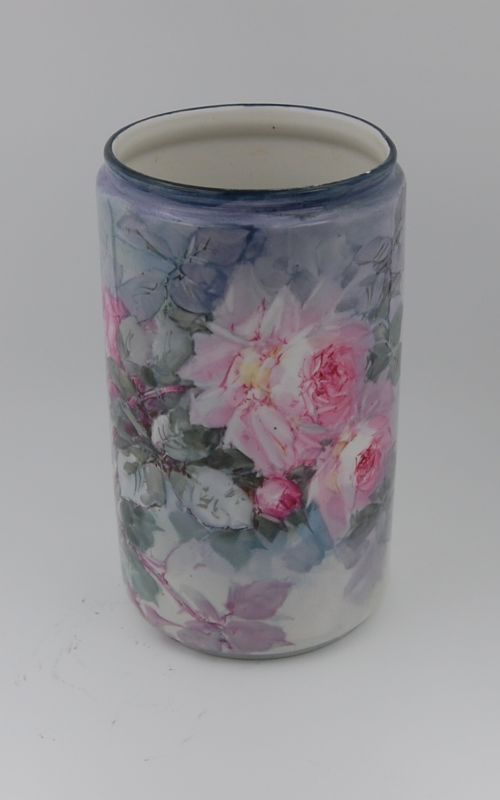 Limoges Antique France Hand Painted Porcelain Vase ~Gorgeous~Roses~