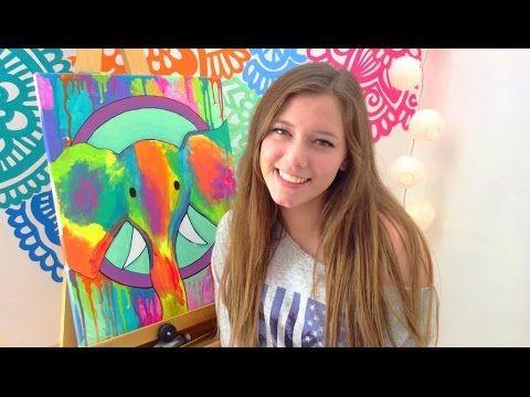 Manualidades para tu cuarto! Usa tus pinturas acrílicas   Dani Hoyos Art ♡ - YouTube