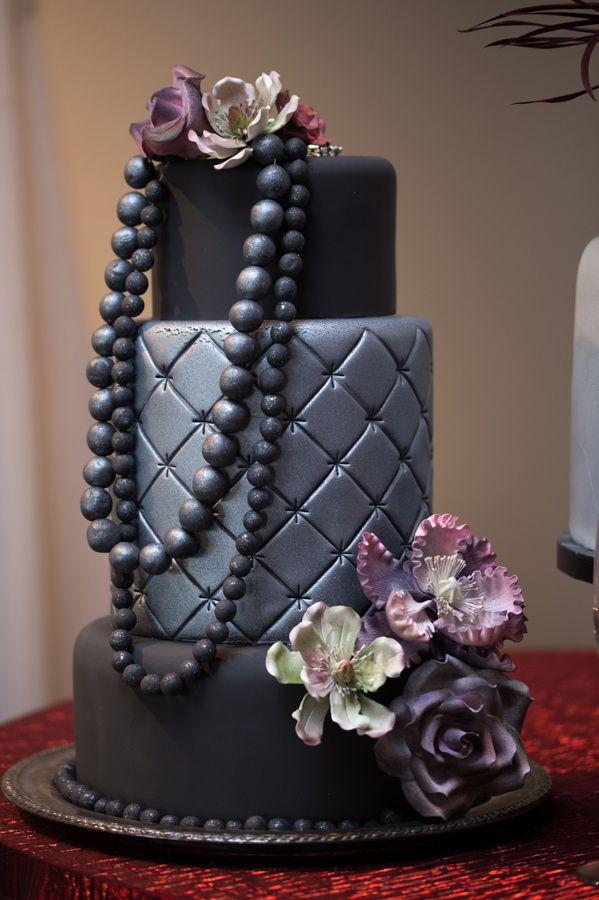 quilted wedding cake // photo by Darrin Hackney // http://ruffledblog.com/notwedding-wichita