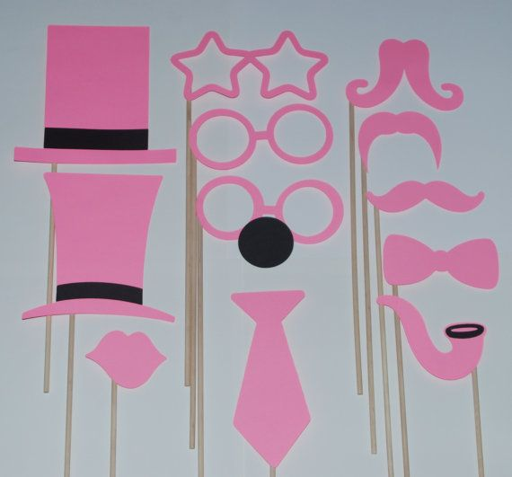 Photo Booth Props - Breast Cancer Awareness - Mustaches, Lips, Glasses