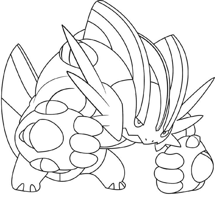 Mega Pokemon Coloring Pages in 2020 | Pokemon coloring ...