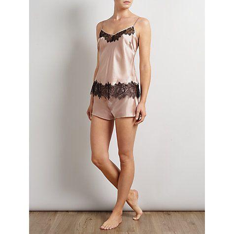 Size M Somerset by Alice Temperley Mia Cami And Short Silk Pyjama Set, Blush Online at johnlewis.com
