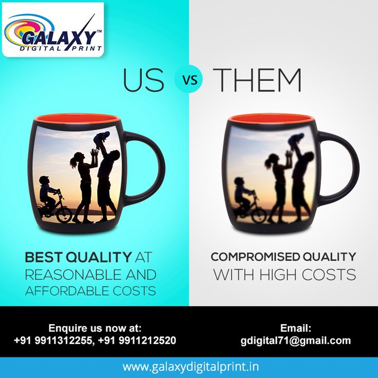 We offer expert quality services, at reasonable prices. We do not compromise on quality & and are very particular on timely submissions. For bulk orders, get in touch with us at gdigital71@gmail.com  #DigitalPrinting #MugPrinting #Printing