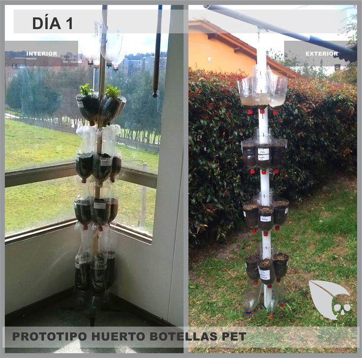eco diseño HUERTO BOTELLAS PET - ECO CALAVERA