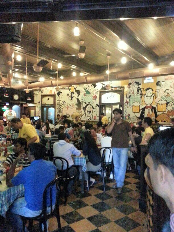 Cafe Mondegar, Colaba, Bombay.