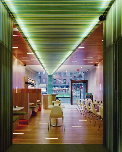 Interior of xing restaurant by ltl architects