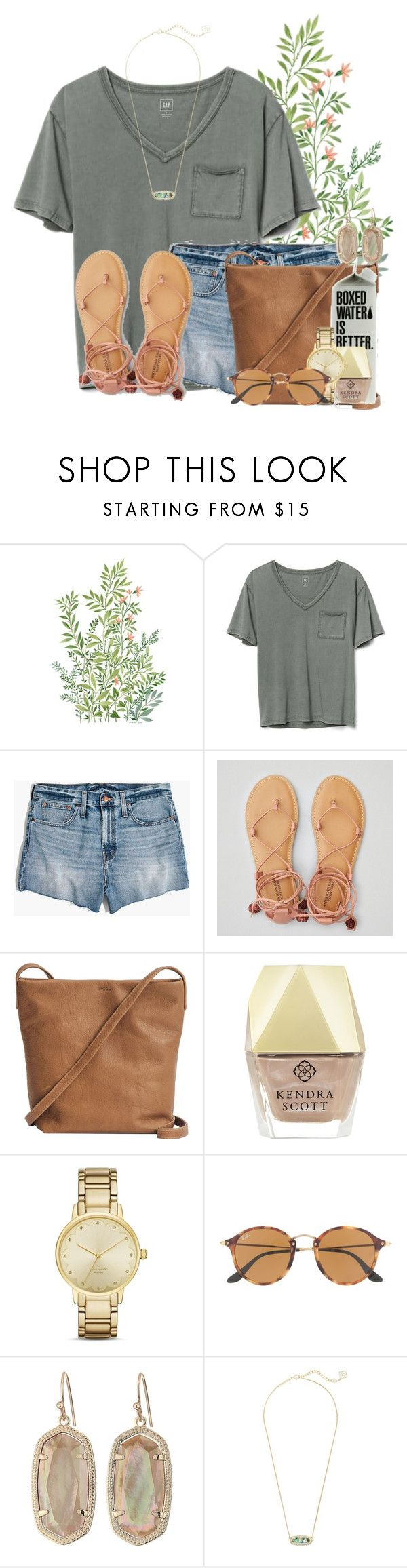 """""""Got the youth group coming tonight"""" by flroasburn ❤ liked on Polyvore featuring Gap, Madewell, American Eagle Outfitters, BAGGU, Kendra Scott, Kate Spade and Ray-Ban"""