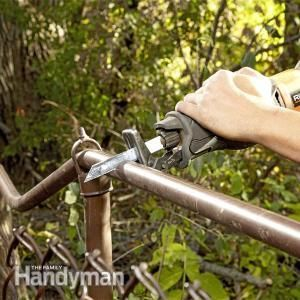 Fixing a chain link fence is an easy DIY repair. The pros would charge about $150 plus materials for the repair shown here. But you can do it yourself for about $60, including tool rental.