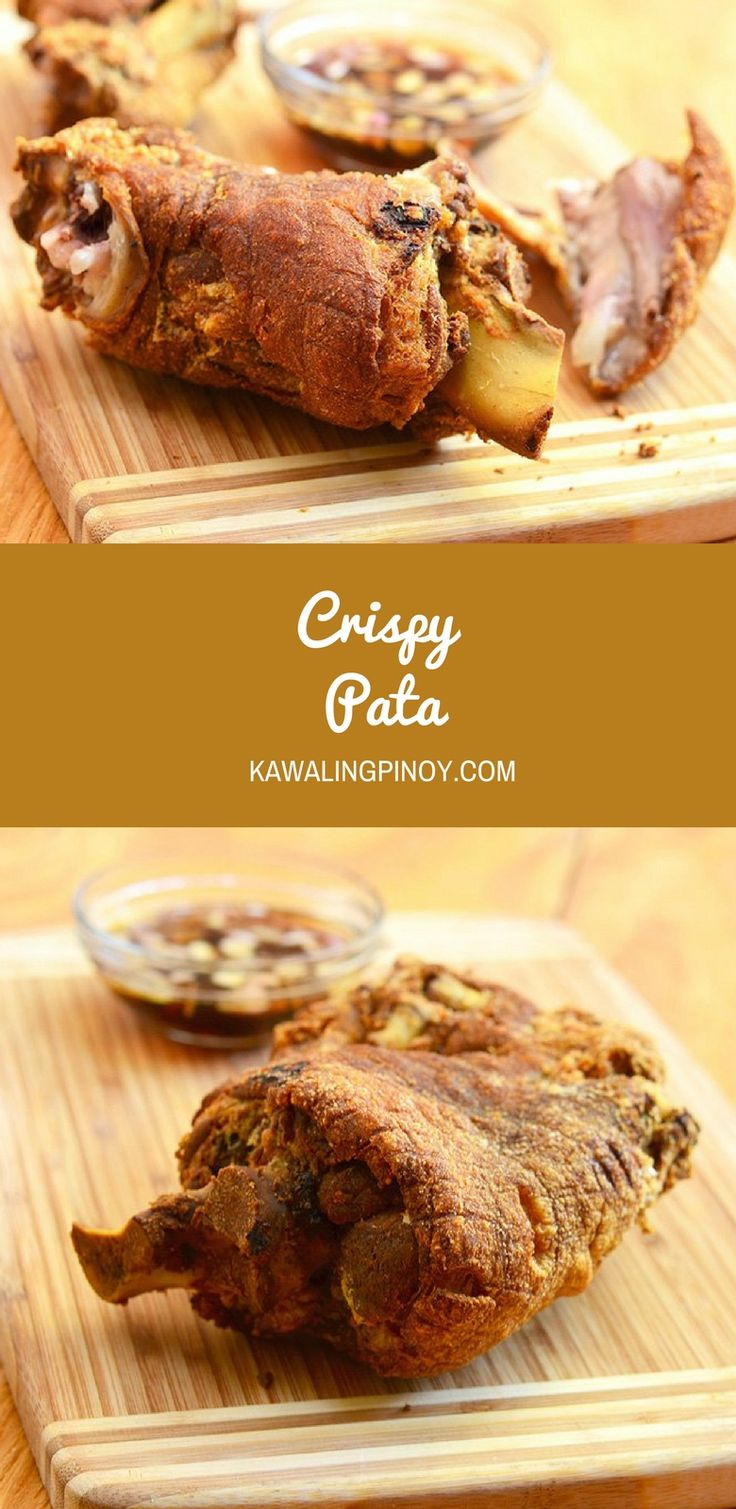 Crispy Pata made whole pork leg boiled until tender and then deep-fried until golden and crisp. Crunchy on the outside and moist on the inside, this popular Filipino delicacy is sinfully delicious!