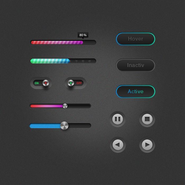 Free UI Elements by Czarny-Design.deviantart.com