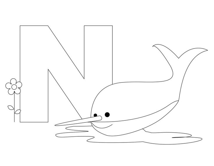 Printable Animal Alphabet Worksheets Letter N Is For Nurse Shark