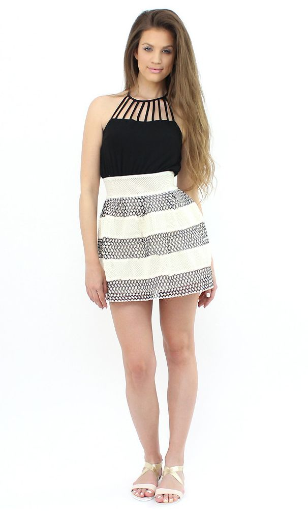 Chic Two-Tone Minidress- show off your fabulous silhouette with this frock...:)  #shopping #moda #style #fashion #dress