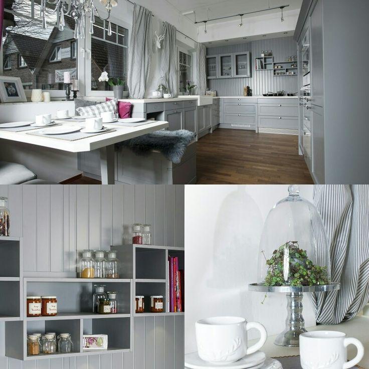 cottage style so geht moderner landhausstil wenn die perlgrauen rustikal wirkenden fronten mit den - Moderne Kche Gemtlich
