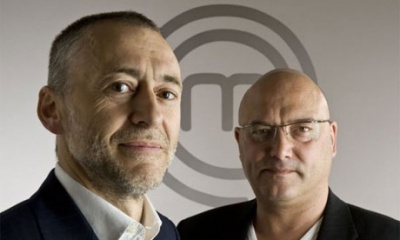 Professional Masterchef - Michel Roux and Greg Wallace.