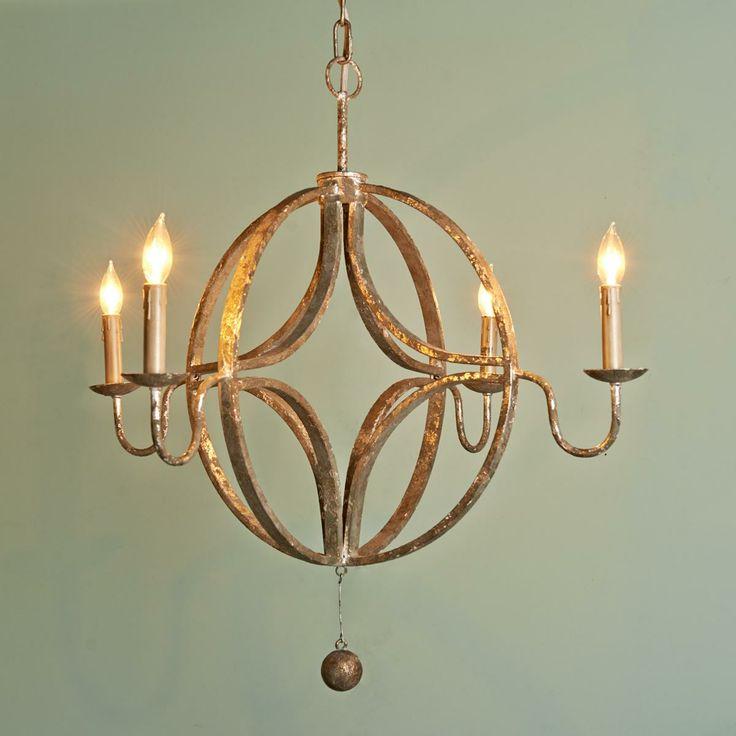 rustic celestial chandelier